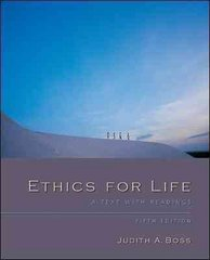 Ethics For Life 5th edition 9780073407531 0073407534