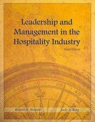 Leadership and Management in the Hospitality Industry 3rd edition 9780866123471 0866123474