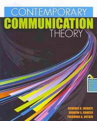 Contemporary Communication Theory 1st Edition 9780757559891 0757559891