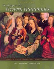 Readings in the Western Humanities Volume 1 7th edition 9780077338480 0077338480