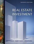 Real Estate Investment (with CD-ROM) 7th Edition 9780324784688 0324784686