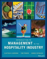 Introduction to Management in the Hospitality Industry 10th Edition 9780470399743 0470399740