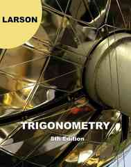 Trigonometry 8th edition 9781439049075 1439049076