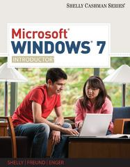 Microsoft Windows 7: Introductory (Shelly Cashman) 1st Edition 9781439081051 1439081050