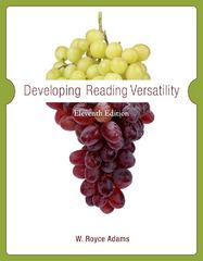 Developing Reading Versatility 11th edition 9780495802518 0495802514