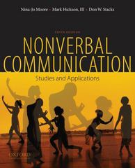 Nonverbal Communication 5th edition 9780195378573 0195378571