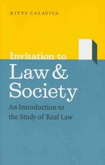 Invitation to Law and Society 1st edition 9780226089973 0226089975