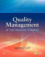 Quality Management in the Imaging Sciences 4th Edition 9780323057615 0323057616