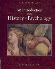 An Introduction to the History of Psychology 6th edition 9780495506218 0495506214