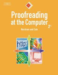Proofreading at the Computer, 10-Hour Series (with CD-ROM) 2nd Edition 9780538728560 0538728566