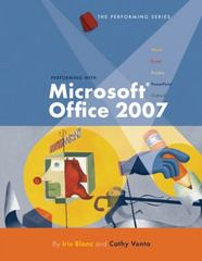 Performing with Microsoft Office 2007: Introductory 1st edition 9781423904205 1423904206