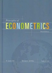 Principles of Econometrics 3rd edition 9780471723608 0471723606