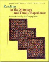 Readings in the Marriage and Family Experience 3rd edition 9780534537630 0534537634