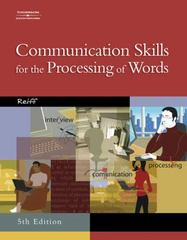 Communication Skills for the Processing of Words 5th edition 9780538439541 0538439548