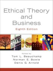 Ethical Theory and Business 8th edition 9780136126027 0136126022