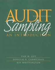 Audit Sampling 5th edition 9780471375906 047137590X