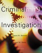 Criminal Investigation 6th edition 9780534576547 0534576540