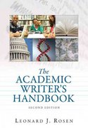The Academic Writer's Handbook 2nd edition 9780205599103 0205599109