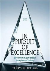 In Pursuit of Excellence 4th Edition 9780736067577 0736067574
