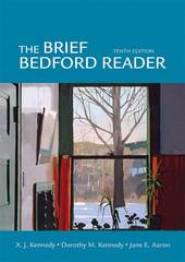The Brief Bedford Reader 10th Edition 9780312472078 0312472072