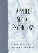 Applied Social Psychology 1st edition 9780135331750 0135331757