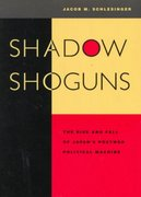 Shadow Shoguns 1st Edition 9780804734578 0804734577