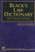 Black's Law Dictionary 6th Edition 9780314885364 0314885366