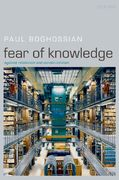 Fear of Knowledge 1st Edition 9780199230419 0199230412