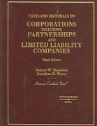 Cases and Materials on Corporations, Including Partnerships and Limited Liability Companies 9th edition 9780314162748 0314162747
