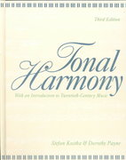 Tonal Harmony, with an Introduction to Twentieth-Century Music 3rd Edition 9780070358744 0070358745