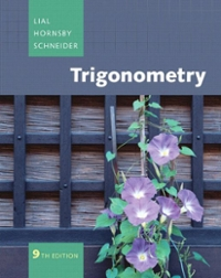 Trigonometry 9th edition 9780321528858 0321528859