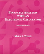Financial Analysis with an Electronic Calculator 4th edition 9780072299731 0072299738