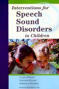 Interventions for Speech Sound Disorders in Children 1st Edition 9781598570182 1598570188
