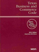 Texas Business and Commercial Code 2010 0 9780314988140 0314988149