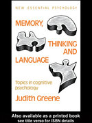 Memory, Thinking and Language 0 9781135836375 113583637X