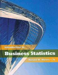 Introduction to Business Statistics 7th edition 9781111792374 1111792372