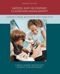 Middle and Secondary Classroom Management 4th edition 9780073378619 0073378615