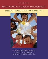 Elementary Classroom Management 5th Edition 9780073378626 0073378623