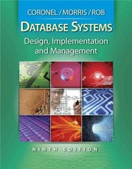 Database Systems: Design, Implementation, and Management (with Premium Web Site Printed Access Card) 9th Edition 9780538469685 0538469684