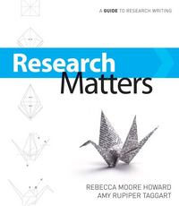Research Matters 1st edition 9780073383743 0073383740