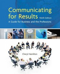 Communicating for Results 9th Edition 9781439036433 1439036438