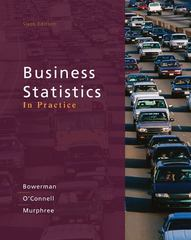Business Statistics in Practice 6th Edition 9780073401836 0073401838