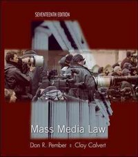 Mass Media Law 17th Edition 9780073511979 0073511978