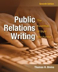 Public Relations Writing 7th Edition 9780073511986 0073511986