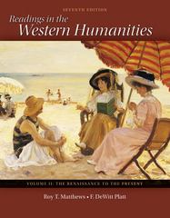 Readings in the Western Humanities Volume 2 7th edition 9780077338497 0077338499