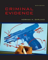 Criminal Evidence 6th Edition 9780073527994 0073527998