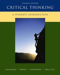Critical Thinking: A Student's Introduction 4th edition 9780073407432 0073407437