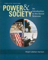 Power and Society 12th edition 9780495833222 0495833223