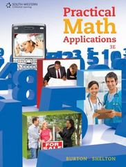 Practical Math Applications 3rd Edition 9780538731157 053873115X