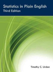 Statistics in Plain English, Third Edition 3rd Edition 9780415872911 041587291X